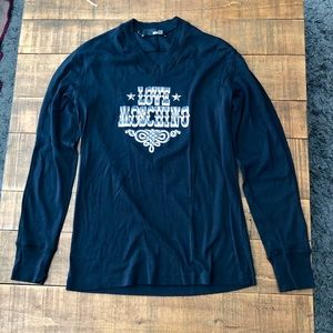 Love Moschino V-Neck Long Sleeve T-Shirt
